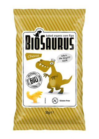 Biopont Biosaurus bio snack sajtos 50 g - Étel-ital, Finomság, Édes, sós ropogtatnivaló