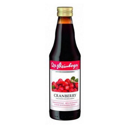 Dr. Steinberger 100% Tőzegáfonyalé 330 ml - Étel-ital, Ital, Zöldség és gyümölcslé