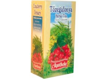 Apotheke Tőzegáfonya tea 20x1,5g - Gyógynövény, tea, Filteres tea