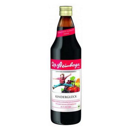 Dr. Steinberger Bio Kinderglück vasban gazdag gyümölcsital 750 ml