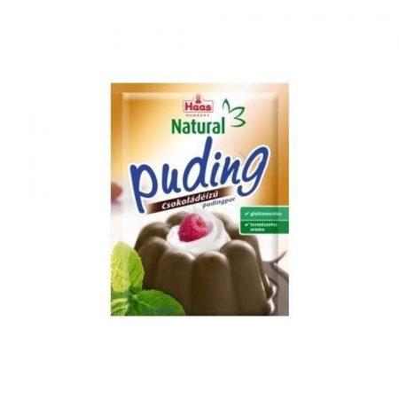 Haas Natural Gluténmentes pudingor csokoládé 44g