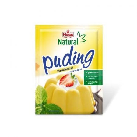 Haas Natural Gluténmentes pudingor vanília 40 g