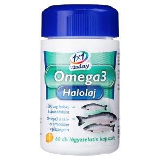 1x1 Vitaday Omega-3 Halolaj lágykapszula 1000mg 60db - Étrend-kiegészítő, vitamin, Omega 3-6-9