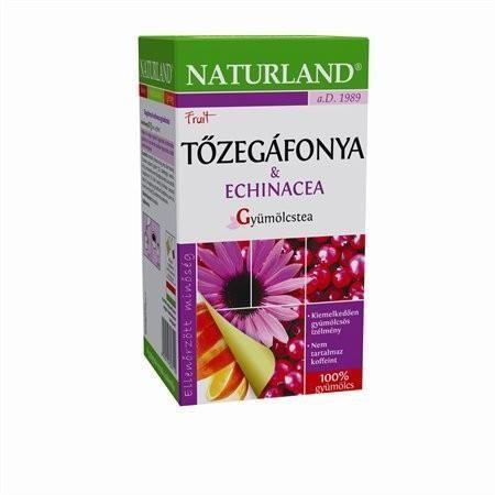 Naturland Gyümölcstea tőzegáfonyával és echinaceával 20x2g - Gyógynövény, tea, Filteres tea