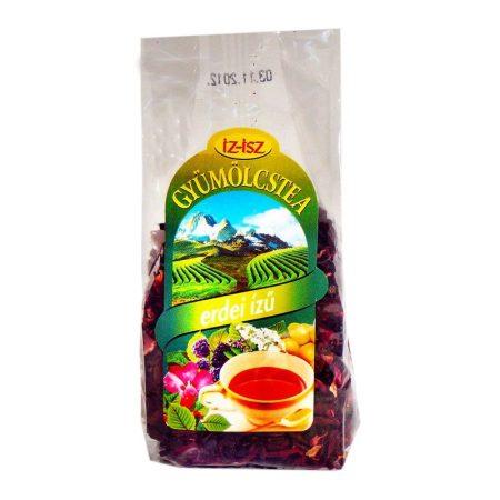 IZ-ISZ Gyümölcstea hibiszkusszal - erdei ízű 100 g - Gyógynövény, tea, Szálas gyógynövény, tea