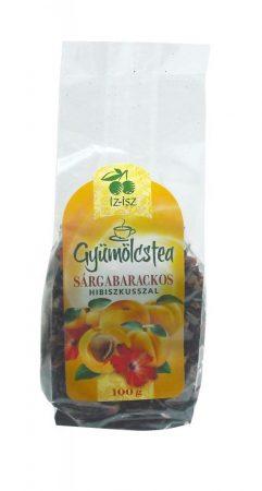 IZ-ISZ Gyümölcstea sárgabarack ízű 100 g - Gyógynövény, tea, Szálas gyógynövény, tea
