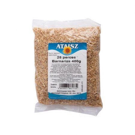 Ataisz Barna rizs 25 perces 400 g    - Étel-ital, Tészta, rizs, Rizs