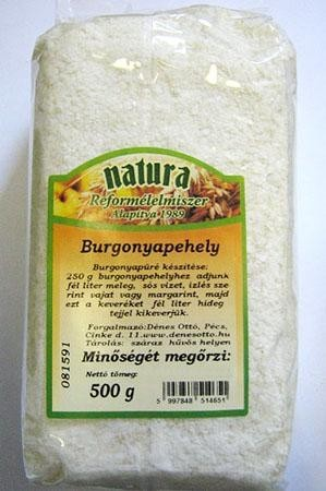 Natura Burgonyapehely 500 g - Étel-ital, Konyhai segédanyag, sütési adalék, Keményítő, sűrítőanyag