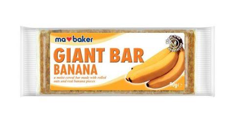 Ma Baker Giant Bar Zabszelet banán 90g - Étel-ital, Finomság, Csokoládé, müzli- és gyümölcsszelet