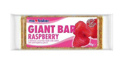 Ma Baker Giant Bar Zabszelet málna 90g - Étel-ital, Finomság, Csokoládé, müzli- és gyümölcsszelet