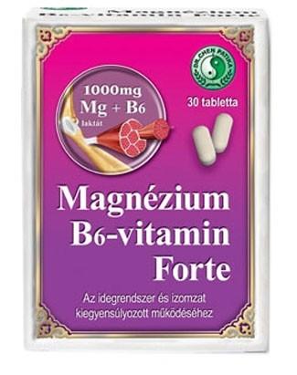 Dr. Chen Magnézium B6-vitamin Forte tabletta 30db - Étrend-kiegészítő, vitamin, Kalcium, magnézium