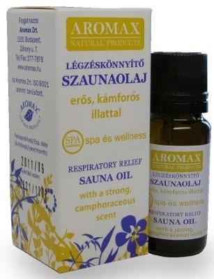 Aromax Szaunaolaj légzéskönnyítő 10 ml - Alternatív gyógymód, Aromaterápia