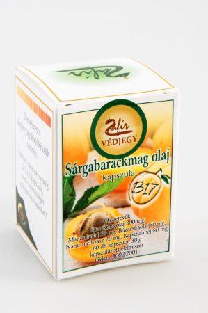Zafír Sárgabarackmag olajkapszula 60 db - Étrend-kiegészítő, vitamin, Gyógynövény készítmény