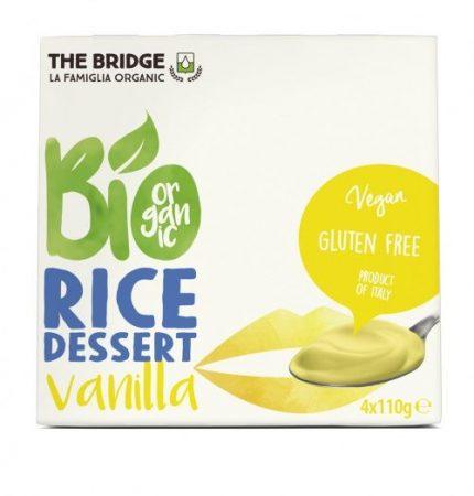 The Bridge Bio Rizs desszert vaníliás 4x110 g