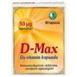 Dr. Chen D-MAX D3-vitamin kapszula 80 db - Étrend-kiegészítő, vitamin, D, A, E, K-vitamin