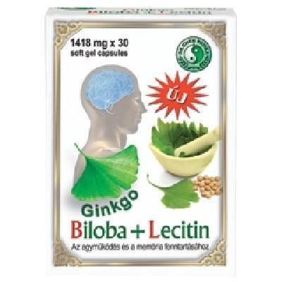 Dr. Chen Ginkgo Biloba + Lecitin kapszula 30 db - Étrend-kiegészítő, vitamin, 50+