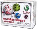 Dr. Chen Q10 + Ginkgo + OMEGA-3 kapszula 30 db - Étrend-kiegészítő, vitamin, Szív és érrendszer
