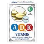 Dr. Chen A+D3+K2 vitaminkapszula 30 db - Étrend-kiegészítő, vitamin, D, A, E, K-vitamin