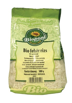 Biopont Bio fehér rizs hosszúszemű 500 g - Étel-ital, Tészta, rizs, Rizs