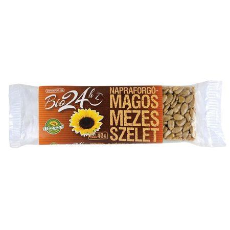 Biopont Bio Mézes-napraforgós szelet 40 g - Étel-ital, Finomság, Csokoládé, müzli- és gyümölcsszelet