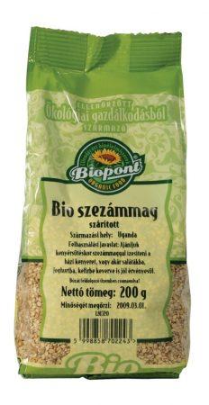 Biopont Bio Szezámmag barna 200 g - Étel-ital, Mag, olajos mag, magőrlemény