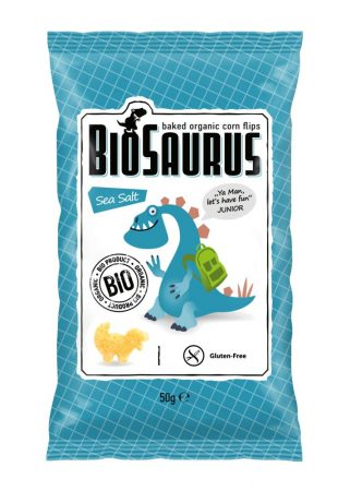 Biopont Biosaurus bio snack tengeri sóval 50 g - Étel-ital, Finomság, Édes, sós ropogtatnivaló