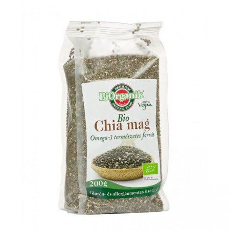Biorganik Bio Chia mag fekete 200g - Étel-ital, Superfood, funkcionális élelmiszer