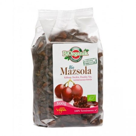 Biorganik Bio Mazsola 500g - Étel-ital, Szárított, aszalt gyümölcs