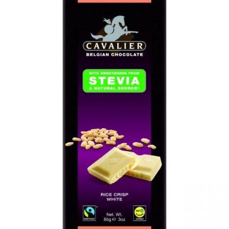 Cavalier belga fehércsokoládé puffasztott rizzsel, stevia édesítőszerrel 85g