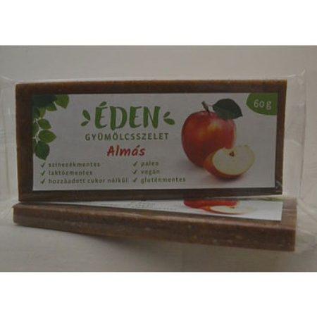 Éden Gyümölcsszelet almás 60g - Étel-ital, Finomság, Csokoládé, müzli- és gyümölcsszelet