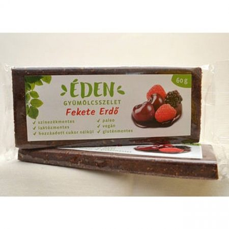 Éden Gyümölcsszelet fekete erdő 60g - Étel-ital, Finomság, Csokoládé, müzli- és gyümölcsszelet