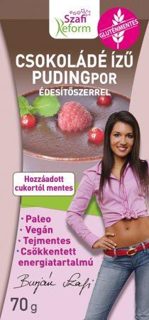 Szafi Fitt Csokoládé ízű pudingpor édesítőszerrel 70g - Étel-ital, Finomság, Desszert