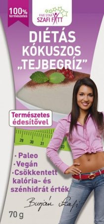 Szafi Fitt Tejbegríz ízű kókuszos poralap 70g - Étel-ital, Finomság, Desszert