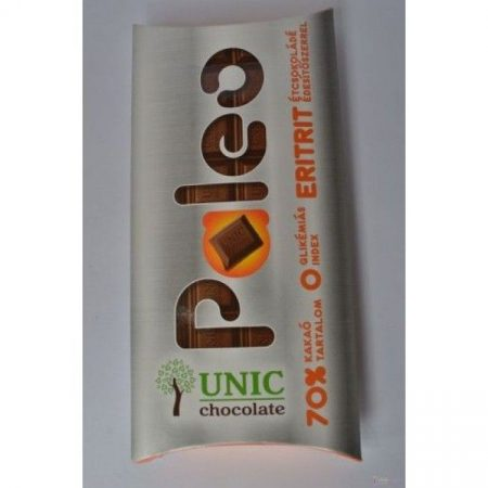 Unic Chocolate Paleo étcsokoládé eritrittel 80g