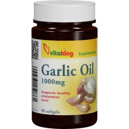 Vitaking Fokhagymaolaj 1000mg gélkapszula 90db - Étrend-kiegészítő, vitamin, Szív és érrendszer