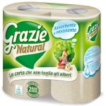 Grazie Natural Lux 3 rétegű öko háztartási toalettpapír 4 tekercs