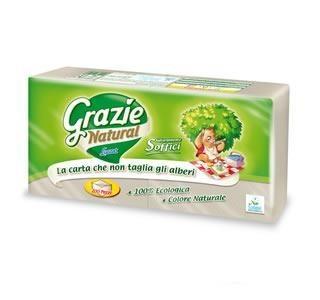 Grazie Natural öko szalvéta 200db - Háztartás, Papíráru (WC-papír, törlőpapír)