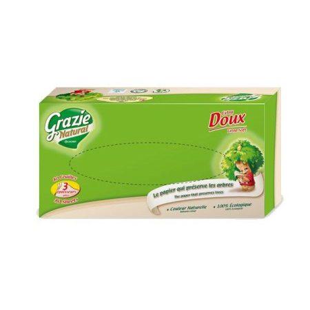 Grazie Natural öko dobozos papírzsebkendő 1db - Háztartás, Papíráru (WC-papír, törlőpapír)