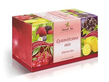 Mecsek Gyümölcstea Mix 4x5x2g - Gyógynövény, tea, Filteres tea