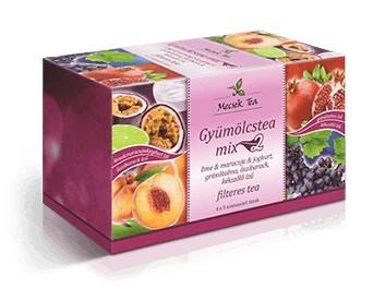 Mecsek Gyümölcstea Mix 2. 4x5x2g - Gyógynövény, tea, Filteres tea