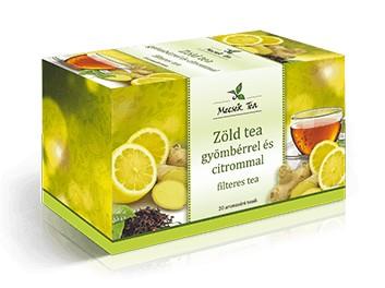 Mecsek Zöld tea gyömbérrel és citrommal 20x2g - Gyógynövény, tea, Filteres tea
