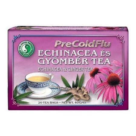 Dr. Chen PreColdFlu Echinacea és gyömbér tea 20x2 g - Gyógynövény, tea, Teakaverék