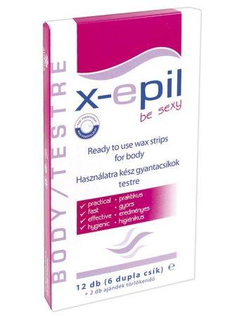 X-Epil Hideg szőrtelenítő gyantacsík 12 db