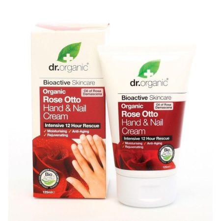 Dr. Organic Kéz- és körömápoló krém bio damaszkuszi rózsával 125 ml