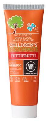 Urtekram Bio tutti-frutti ízű fogkrém gyermekeknek 75 ml
