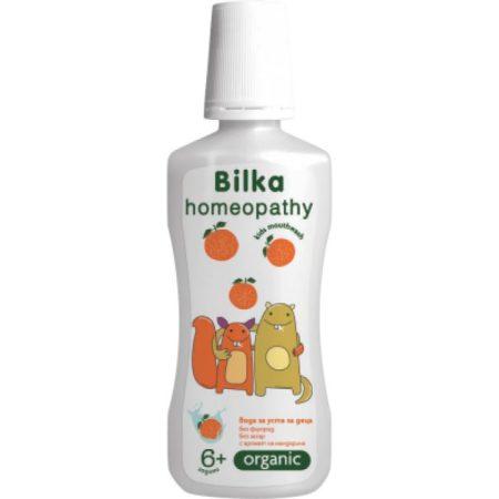 Bilka Organic homeopátiás szájvíz gyerekeknek mandarin ízesítéssel 250 ml