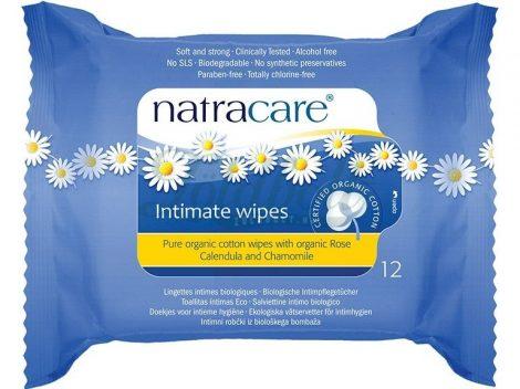 Natracare Női intim törlőkendő 12 db