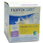 Natracare Ultra Pads Bio egészségügyi szárnyas betét hosszú 10 db