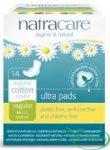 Natracare Ultra Pads Bio egészségügyi szárnyas betét normál 14 db