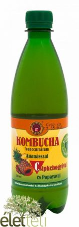 Kombucha Tea koncentrátum ananásszal, csipkebogyóval és papayával 500 ml